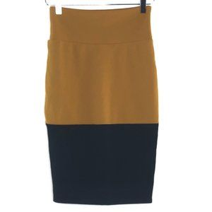 LULAROE Black and Gold Cassie Pencil Skirt #A12
